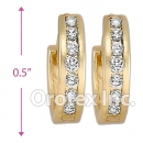 H61R10  Gold Layered  CZ Huggies Earring