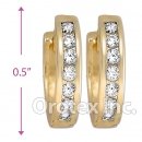 H61R14  Gold Layered  CZ Huggies Earring