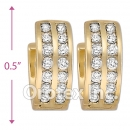 H62R12  Gold Layered  CZ Huggies Earring