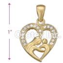 IPCZ-1031 Gold Layered CZ Charm