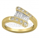 JAB011 Gold Layered CZ Ring