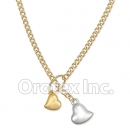 N001 Gold Layered Two Tone Necklace