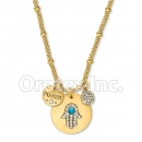 N031 Gold Layered CZ Necklace