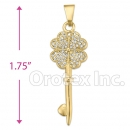 P 003 Gold Layered CZ Charm