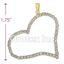 P005 Gold Layered CZ Charm