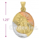 P195 Gold Layered Tri-Color Pendant