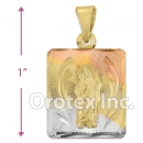 P197 Gold Layered Tri-Color Pendant