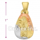 P199 Gold Layered Tri-Color Pendant