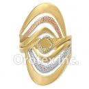 R024 Gold Layered Tri Color Women's Ring
