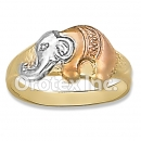 R026 Gold Layered Tri Color Kids' Ring