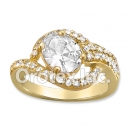 R064 Gold Layered CZ Ring