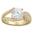 R073 Gold Layered CZ Ring