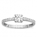 925 Sterling Silver Promise Cz Women's Ring