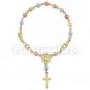 RN 003 Gold Layered Tri-Color Hand Rosary
