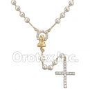 RSR008 Gold Layered CZ Rosary