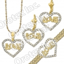 S 001 Gold Layered CZ Set