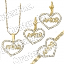 S 002 Gold Layered CZ Set