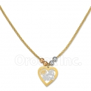 Orotex Gold Layered Tri-Color 15 años Necklace